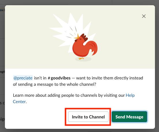 Invite to Channel