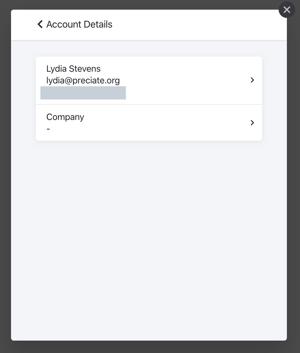 account information - self serve portal - details